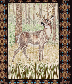 Deer and border Embroidery