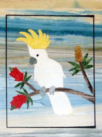 Quilt Top Kit - Batik Cockatoo1/4 panel 2