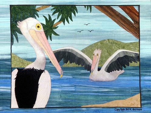 Quilt Top Kit - Batik Pelican