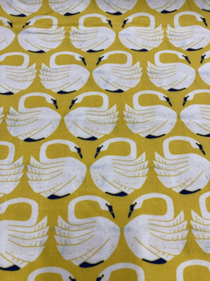 On A Spring Day - LV401-SU2 On a Spring Day - Loving Swans - Sundance Fabric