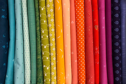 Rainbow Fabric Pack for the May 2021 Sew Along