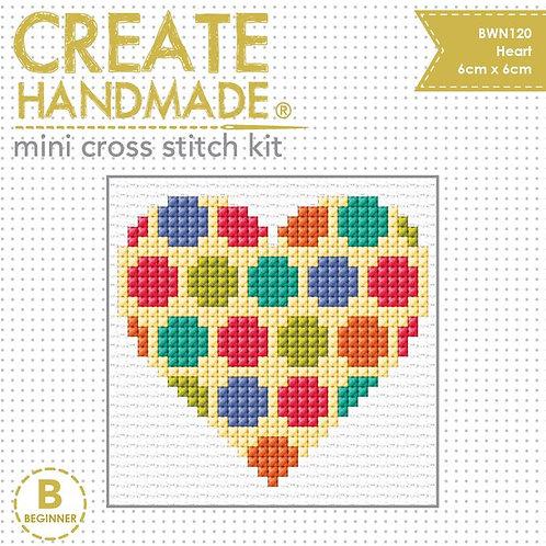 Heart Mini Cross Stitch Kit