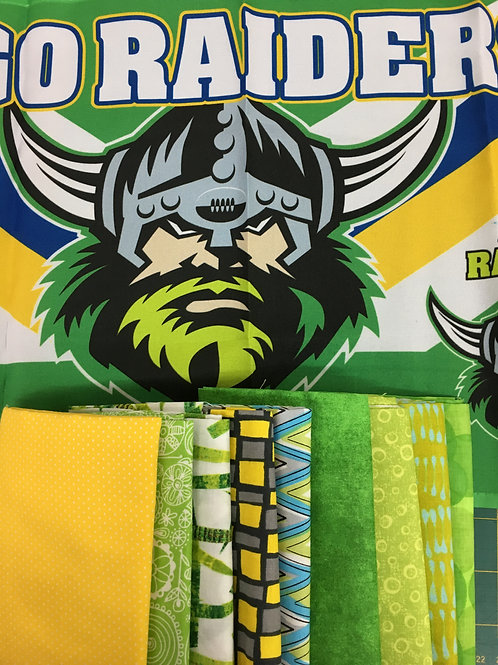 Canberra Raiders Quilt Top Kit