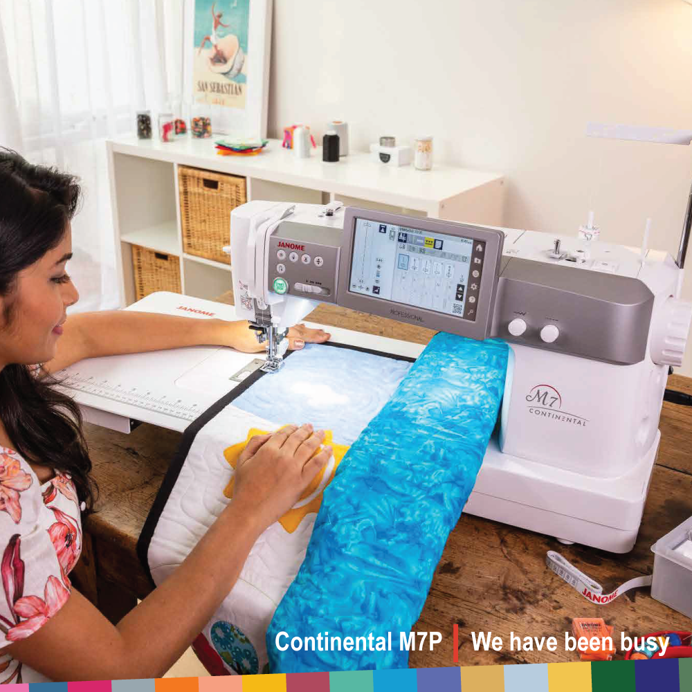 New Janome CM7 with 13 1/2 inch throat space to the right of centre needle position