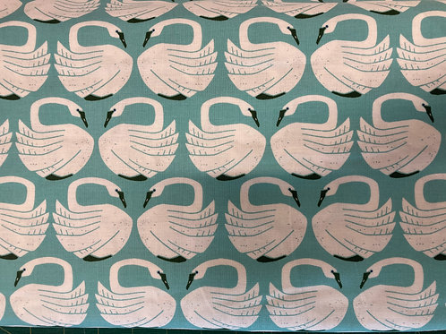 On A Spring Day - LV401-WA1 - Loving Swans - Waterfall Fabric