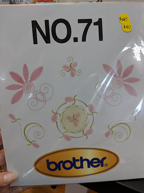 Brother Embroidery Card - 71