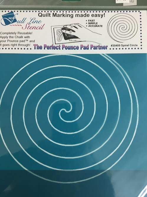 Pounce Pad Quilting Stencils - Spiral Circle