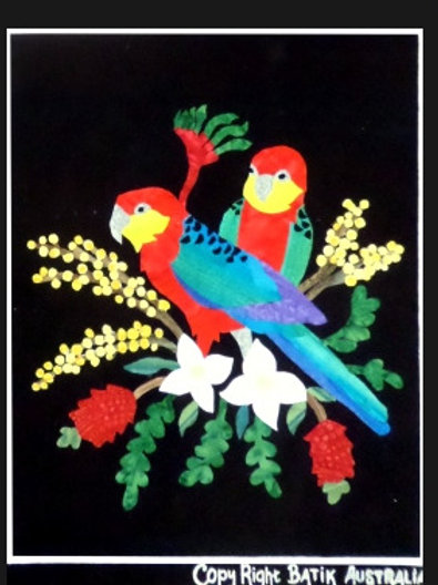 Quilt Top Kit - Batik Rosella 1/4 panel 4