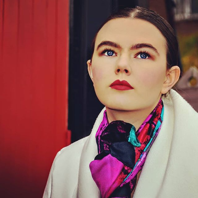 #fashionshoot #fashionmodel #luxurybrands #glamourchic #northernirishbeauty #silkaccessories #silksc