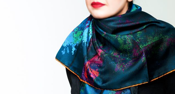 Abstract wheel print Scarf