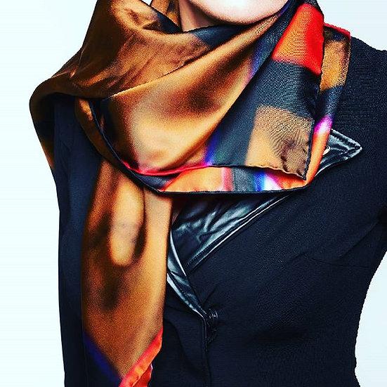 Signature Lavine print scarf