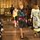Thumbnail: Maxi dress in signature wheel logo print.