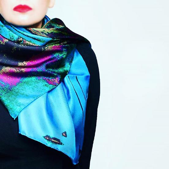 Train print scarf