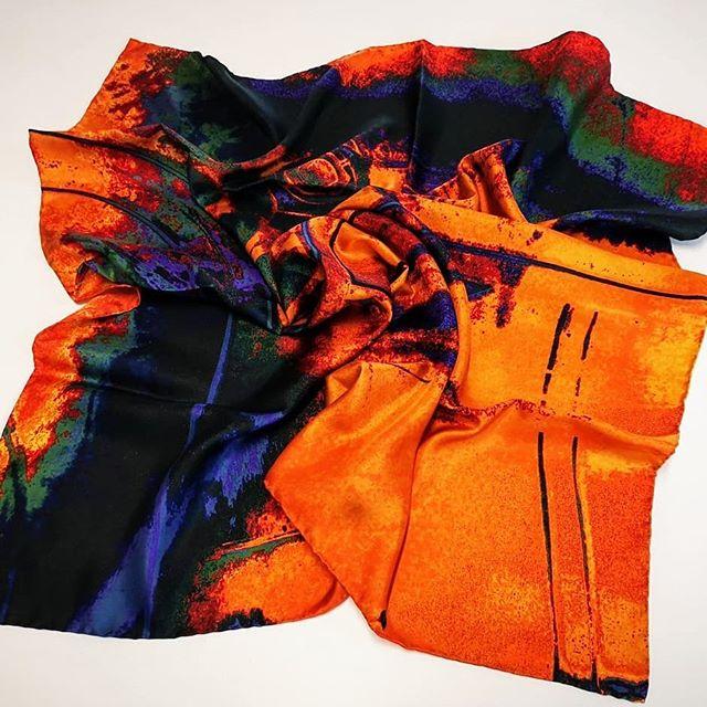 Industrial revolution series, Train wheel print in Orange..._#autumnfashion #newdesigner #luxurybran