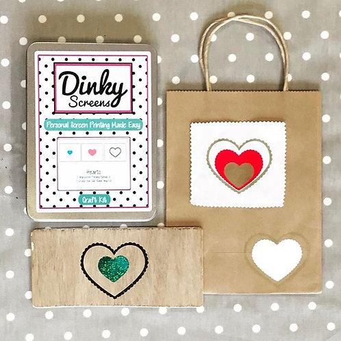 Hearts Screens Vinyl Stencils Printing Craft Kit