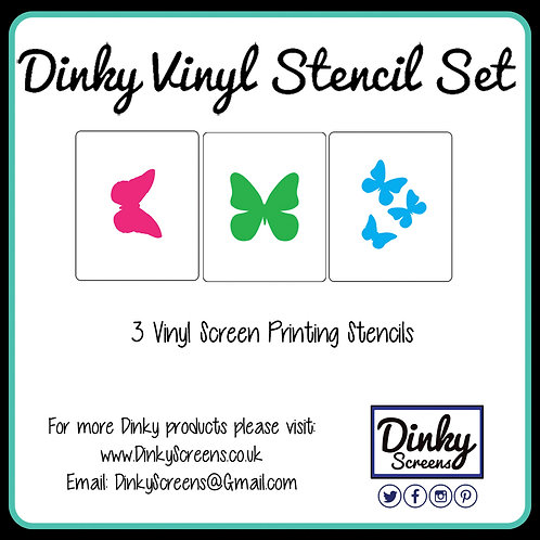 Butterflies Screen Printing Vinyl Stencil Set of 3