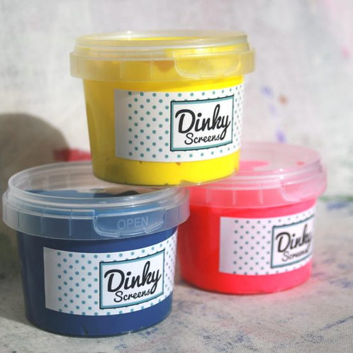5 x120ml Dinky Screens Bright Colours Printing Inks Set Dinky Screen x 20ml Inks