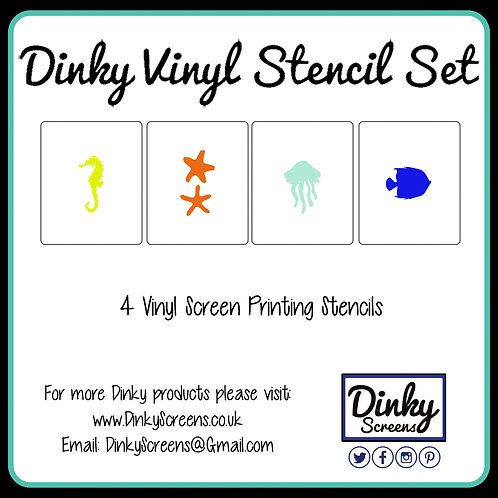 Under The Sea Screen Printing Vinyl Stencil Set of 3