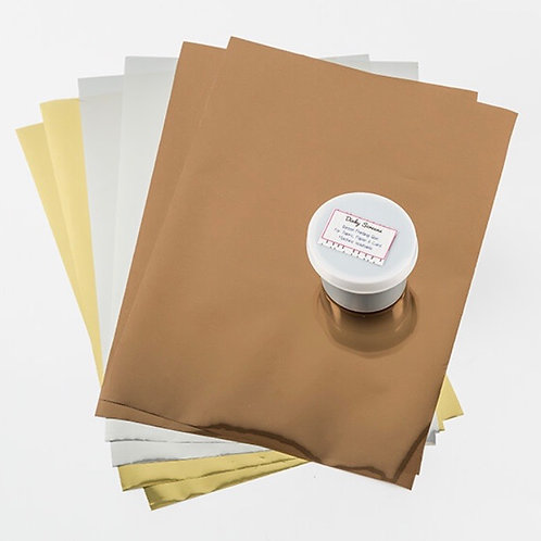 A4 Assorted Foil Sheets Set With Glue