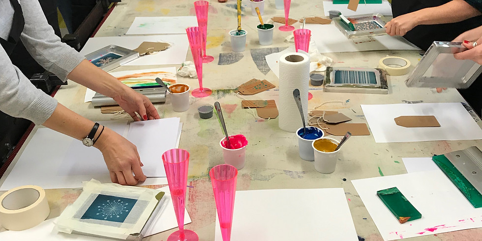 Prosecco and Screen Print Workshop