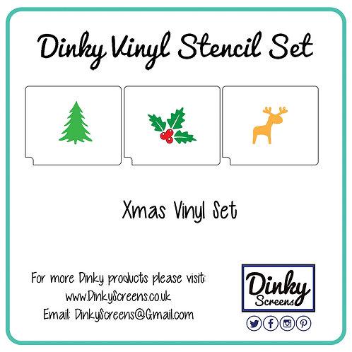 Christmas Screen Printing Vinyl Stencil Set of 3