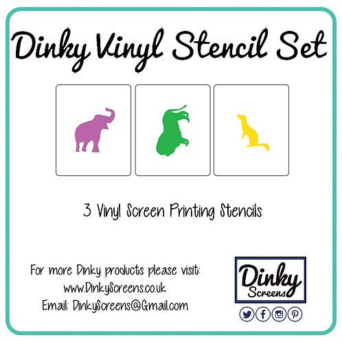 Zoo Screen Printing Vinyl Stencil Set of 3