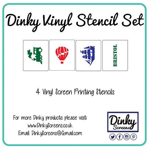 Bristol Screen Printing Vinyl Stencil Set of 3