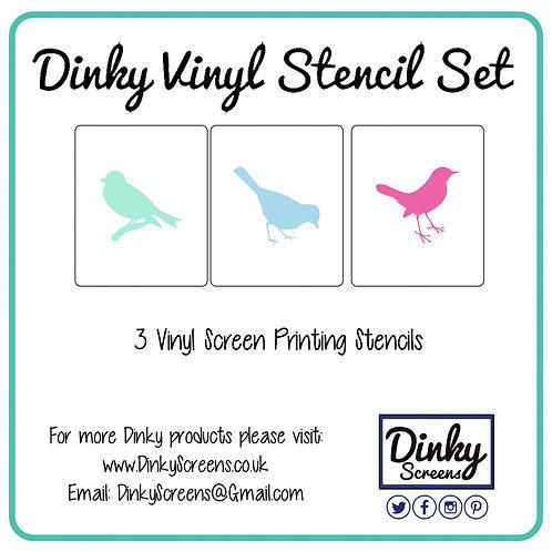 Pretty Bird Screen Printing Vinyl Stencil Set of 3