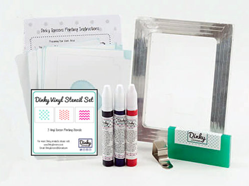 Patterns Dinky Screens  Vinyl Stencils Printing Craft Kit