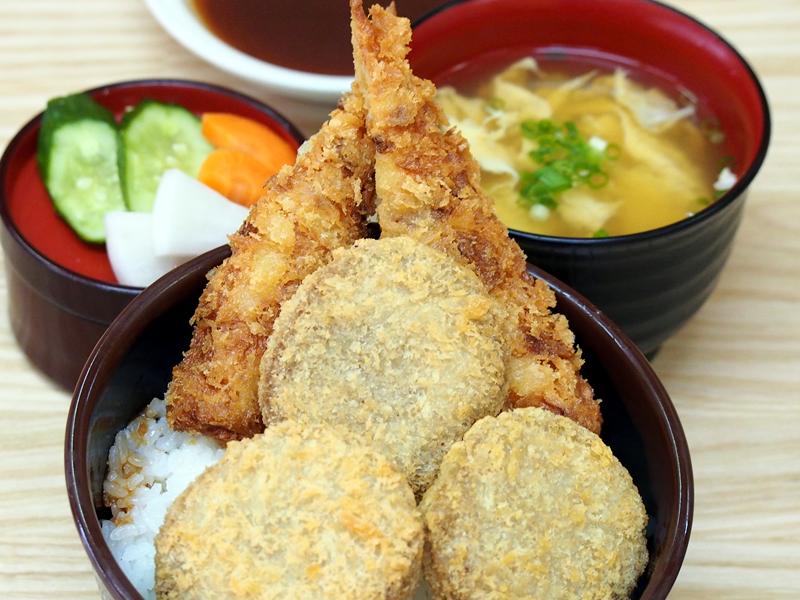 アジメンチ丼セット