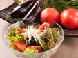 季節の有機サラダ