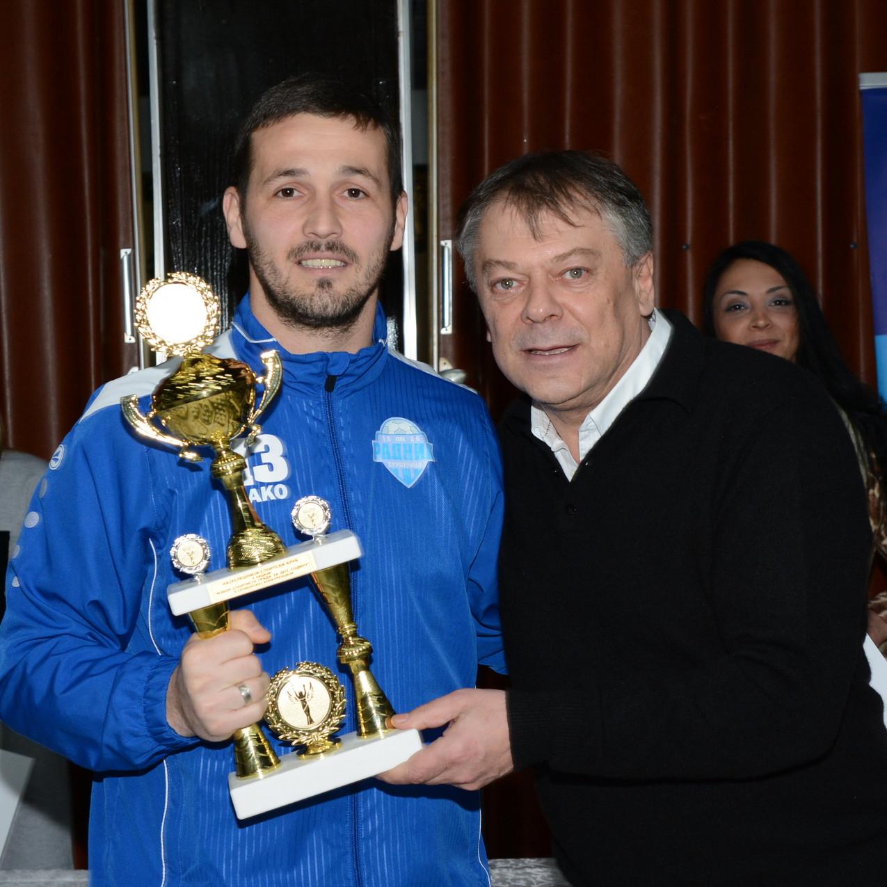 Najuspesniji sportski klub- pehar preuzeo kapiten Vladan Pavlovic