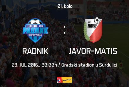 Najava utakmice Radnik - Javor-Matis