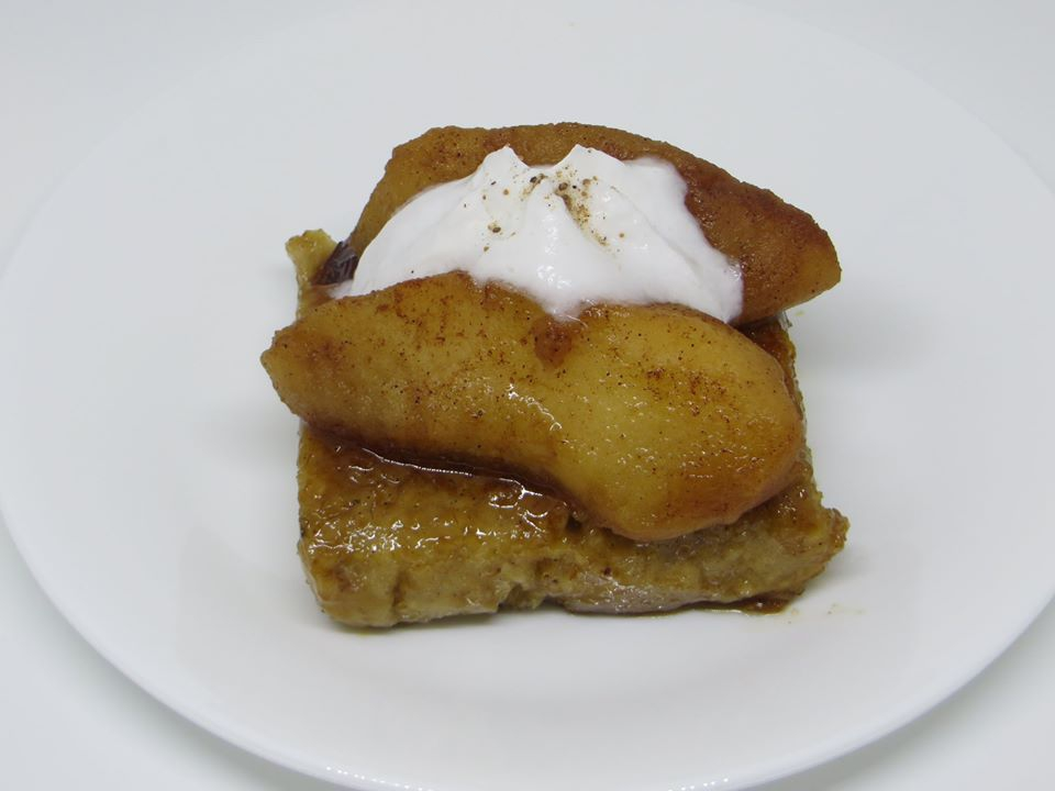 Maple Fried Oatmeal with Spiced Apples