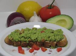 Avocado-Guacamole (Onion, Tomato, Garlic, Lemon) on Toast