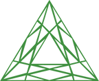 Saveta Maria Young's Green Symetrical Triangle Logo