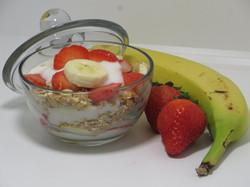 Strawberry-Banana Yogurt & Nutty Granola