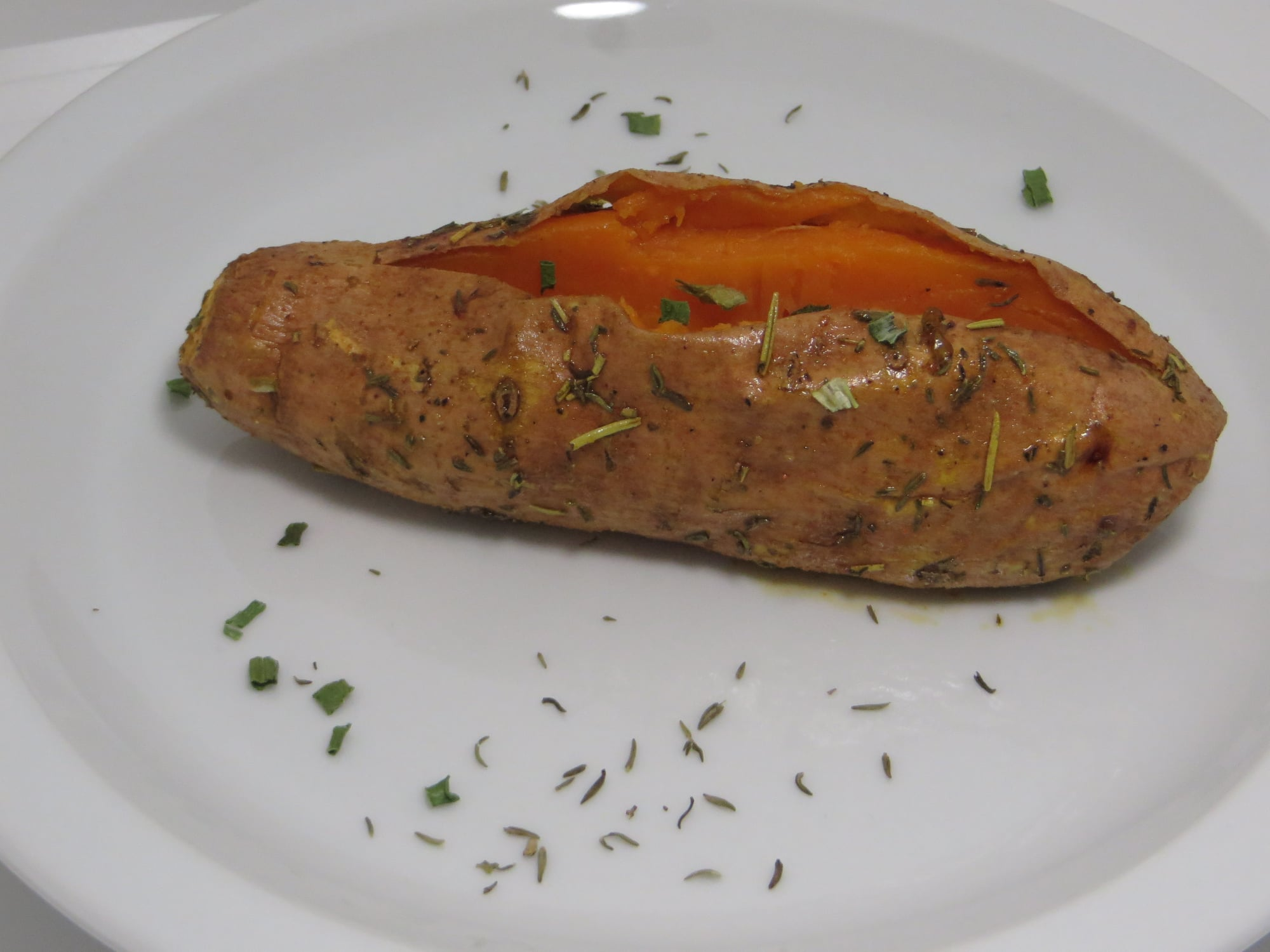Side Herb-Baked Sweet Potato