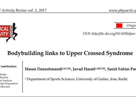 Bodybuilding Links to Upper Crossed Syndrome