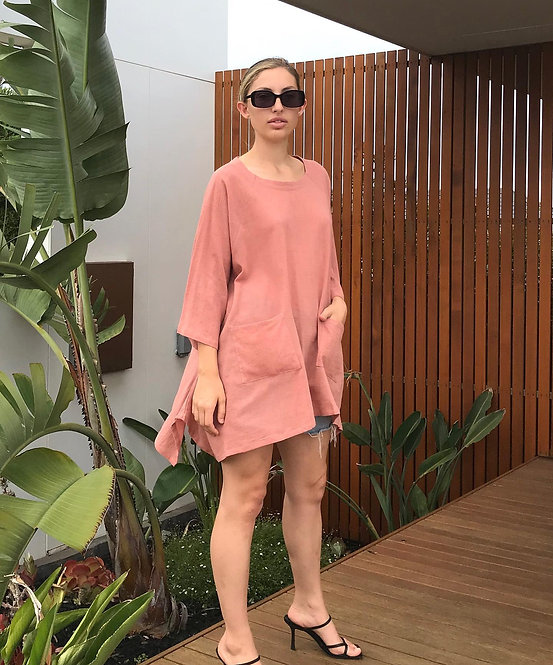 The COTTON/LINEN TOP in Clay