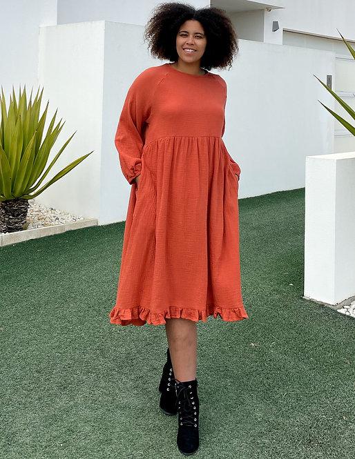 Hi Lo Dress in Mandarin