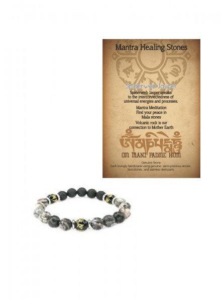 Mantra Healing Bracelet Spider Jas