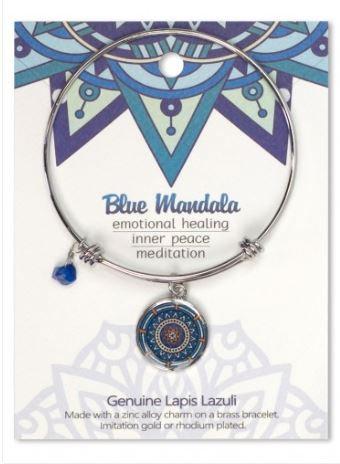 Adjustable Bracelet Mandala Blue Lapis Lazuli