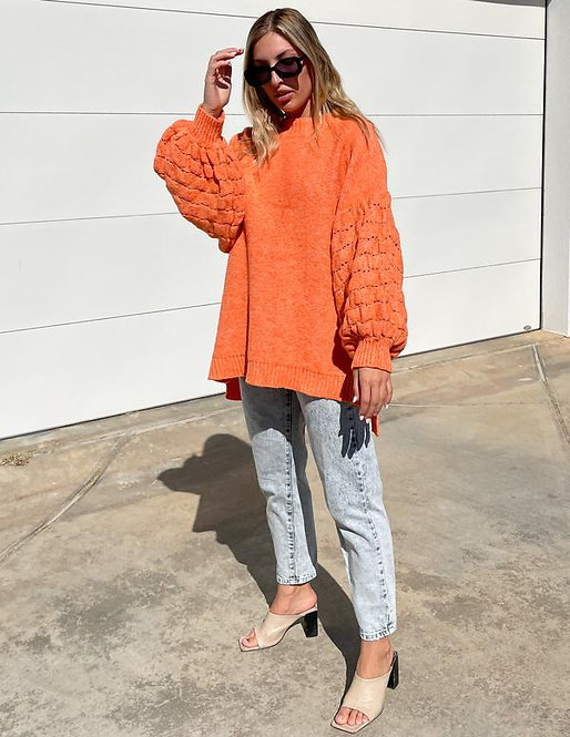 The Puff Sleeved Jersey in Mandarin
