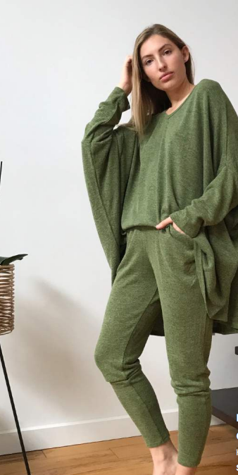 High-waisted Pant - Green.