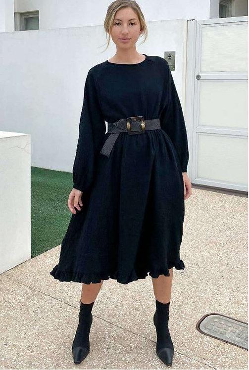 Hi Lo Dress in Black