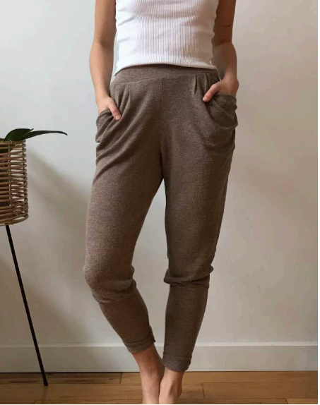 High-waisted Pant - Latte.
