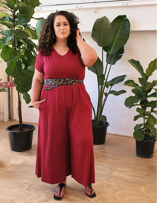 JUMPSUIT in ROUGE