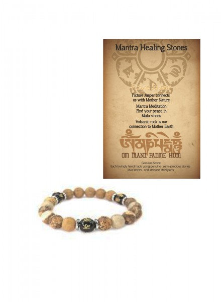 Mantra Healing Bracelet Jasper Stone