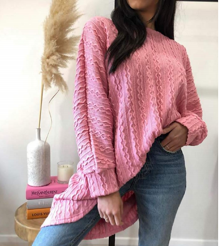 Woollen Top in Pink